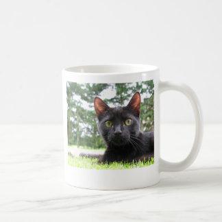 Lucky Black Cat Basic White Mug