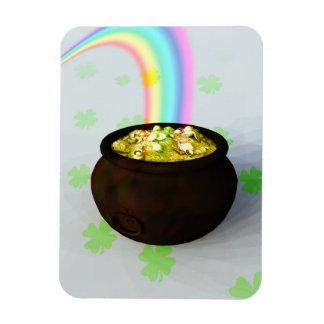 Lucky Pot of Gold Rectangular Photo Magnet