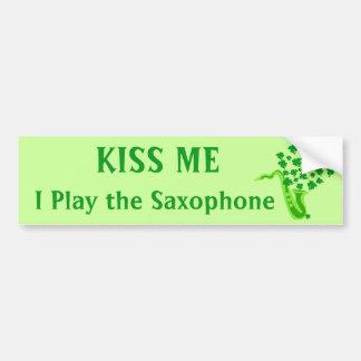 Lucky Saxophone Bumper Sticker