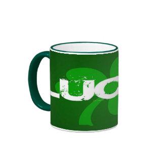 Lucky shamrock st pattys day mug