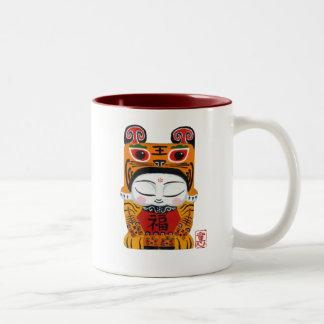lucky-tiger-baby Two-Tone mug
