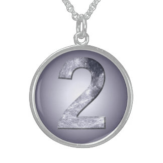 Lucky Two Lunar Symbol Round Pendant Necklace
