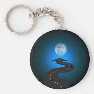 Luna Basic Round Button Key Ring