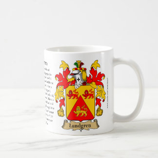 Lundgren, the Origin, the Meaning and the Crest Basic White Mug