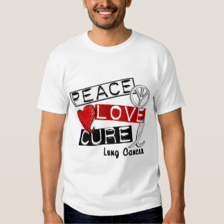 Lung Cancer PEACE LOVE CURE 1 Shirts