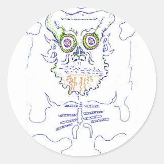 Lush Complexity Round Sticker