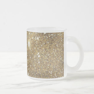 Luxury Gold Glitter - Printed Image Frosted Glass Mug