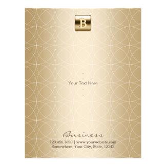 Luxury Gold Monogram Geometric Elegant 21.5 Cm X 28 Cm Flyer