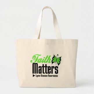 Lyme Disease FAITH MATTERS Jumbo Tote Bag