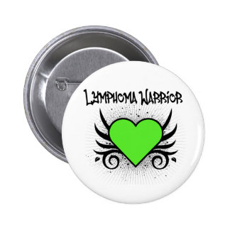 Lymphoma Warrior Heart 6 Cm Round Badge