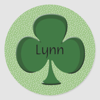 Lynn Lucky Irish Shamrock Sticker