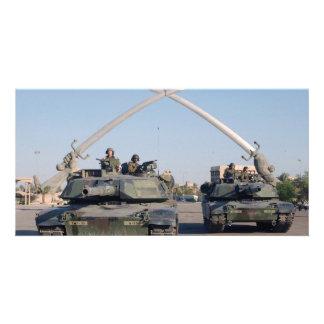 M1A1 Abrams Tank Personalized Photo Card
