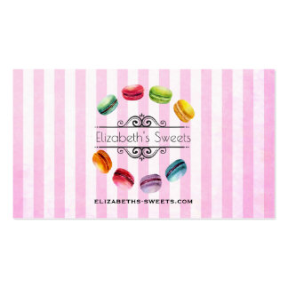 Macarons In A Circle | French Pastry in Watercolor Pack Of Standard Business Cards