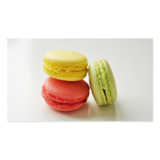 Macaroon macaron bakery french pastry chef caterer pack of standard business cards