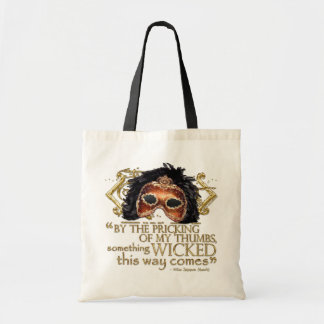 "Macbeth ""Something Wicked"" Quote (Gold Version) Budget Tote Bag"