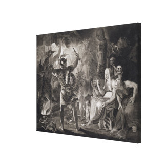 Macbeth, the Three Witches and Hecate in Act IV, S Canvas Prints
