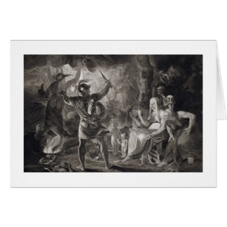 Macbeth, the Three Witches and Hecate in Act IV, S Greeting Card