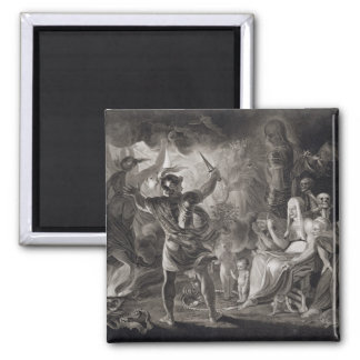 Macbeth, the Three Witches and Hecate in Act IV, S Square Magnet