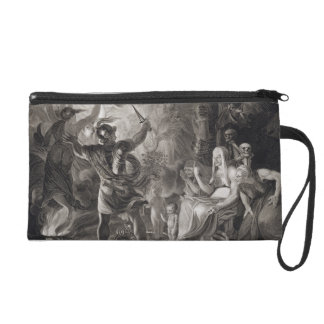 Macbeth, the Three Witches and Hecate in Act IV, S Wristlet Clutches