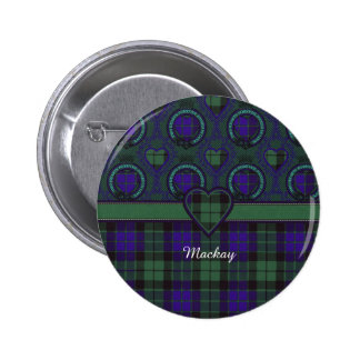 Mackay clan Plaid Scottish tartan 6 Cm Round Badge