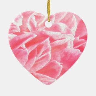 Macro pink flower petals ornament