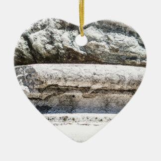 Macro Rock Ceramic Heart Decoration