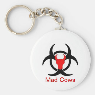 Mad Cow Collection Basic Round Button Key Ring
