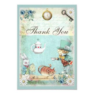 Mad Hatter Wonderland Tea Party Thank You 9 Cm X 13 Cm Invitation Card