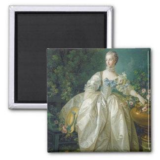 Madame Bergeret, c. 1766 (oil on canvas) Square Magnet