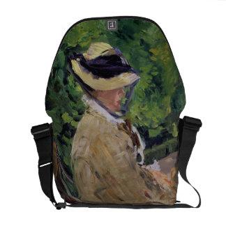 Madame Manet at Bellevue Messenger Bag
