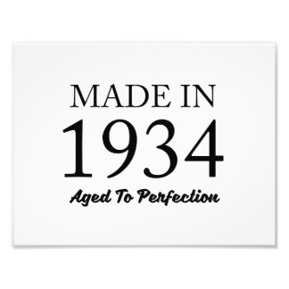 Made In 1934 Photograph