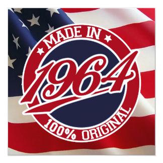 Made In 1964 USA United States of America 13 Cm X 13 Cm Square Invitation Card