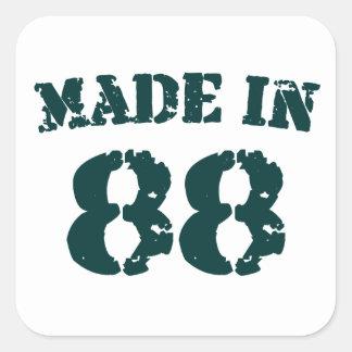 Made In 1988 Square Sticker