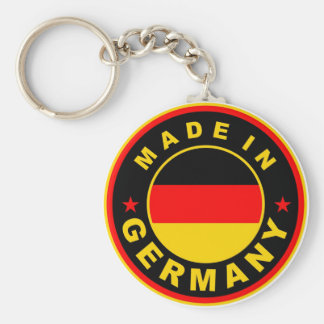 made in germany country flag label round stamp basic round button key ring