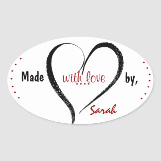Made With Love Custom Stickers