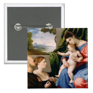 Madonna and Child with the Infant Saint John 15 Cm Square Badge
