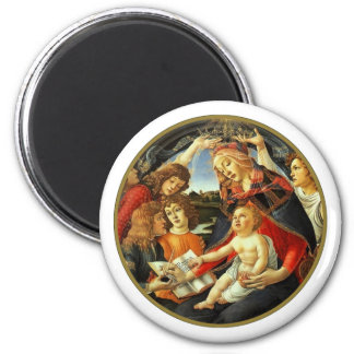 Madonna by Botticelli. Christmas Gift Magnet