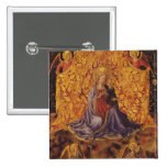 Madonna of Humility with Christ Child and Angels 15 Cm Square Badge