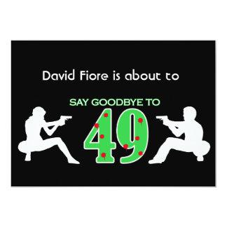 Mafia Style 50th Birthday Celebration 13 Cm X 18 Cm Invitation Card