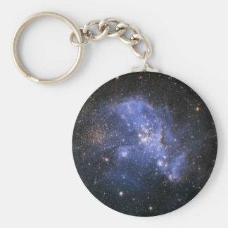 Magellanic cloud basic round button key ring