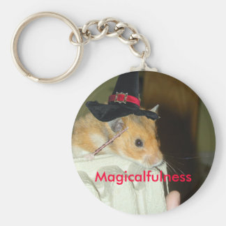 Magicalfulness Keychain with hamster witch