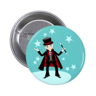 Magician kid birthday party 6 cm round badge