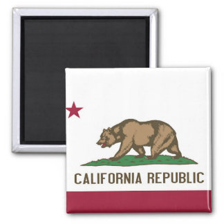 Magnet with Flag of  California State - USA