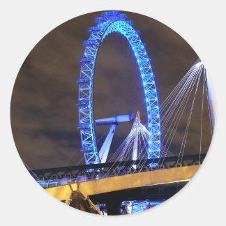 Magnificent! Millennium Wheel London Round Sticker