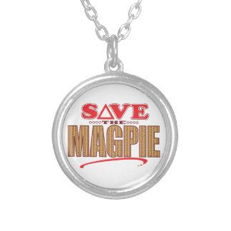 Magpie Save Round Pendant Necklace