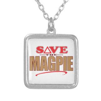 Magpie Save Square Pendant Necklace