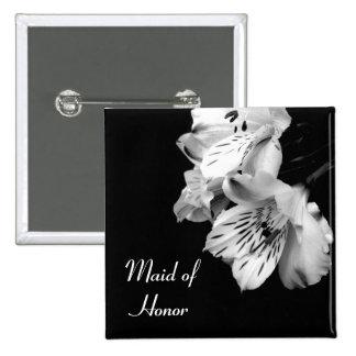 Maid of Honor Alstroemeria Lily Button