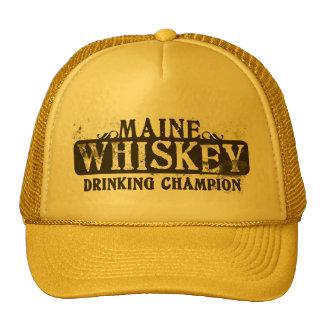 Maine Whiskey Drinking Champion Cap