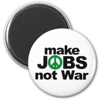 Make Jobs, Not War 6 Cm Round Magnet