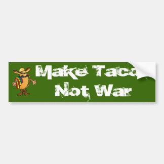 Make Tacos Not War Bumper Sticker